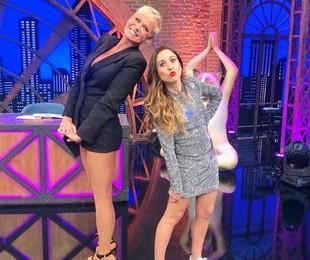 Xuxa foi a convidada de Tatá Werneck na estreia da nova temporada do 'Lady night'   Divulgação