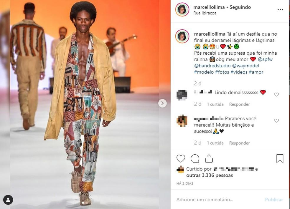 Marcelo Lima nasceu em Salvador e sonha em ser modelo internacional — Foto: Reprodução/Redes Sociais