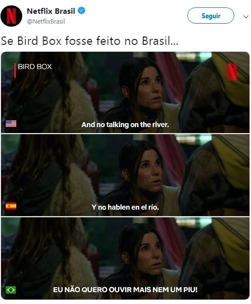 Meme Bird Box (Foto: Reprodução Twitter)