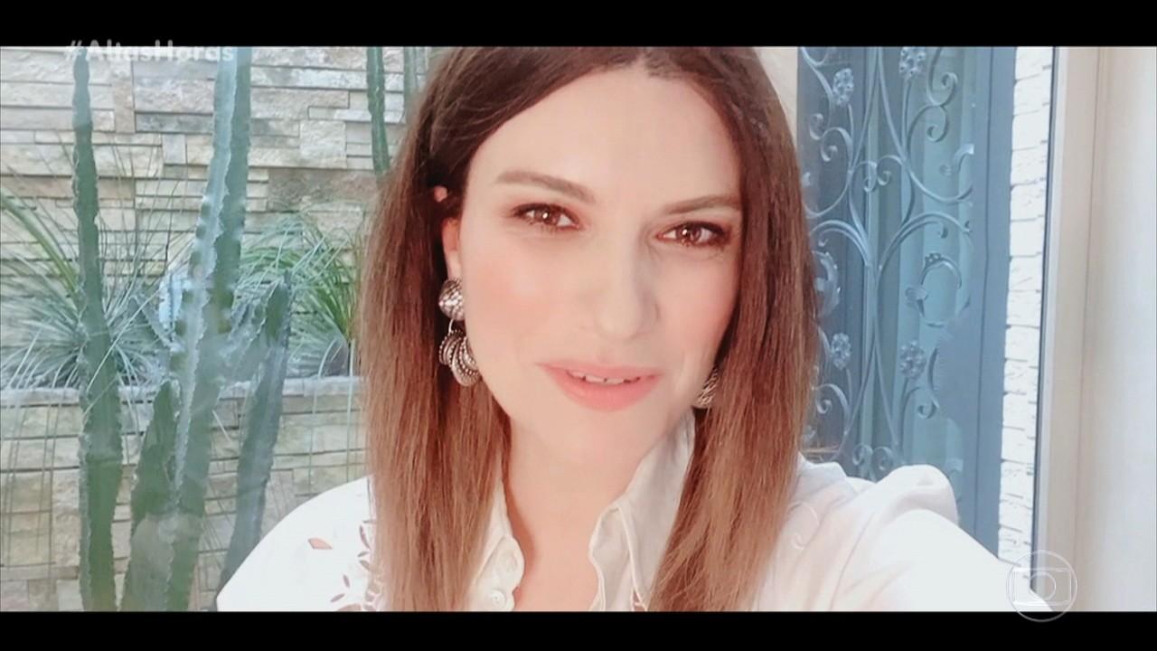 Laura Pausini manda mensagem especial parabenizando Serginho Groisman que comemora 70 anos