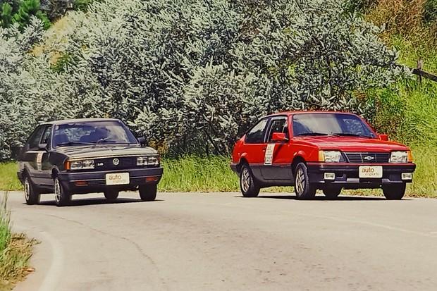 Chevrolet Monza S/R X Volkswagen Passat GTS Pointer: uma disputa bem equilibrada (Foto: Autoesporte)