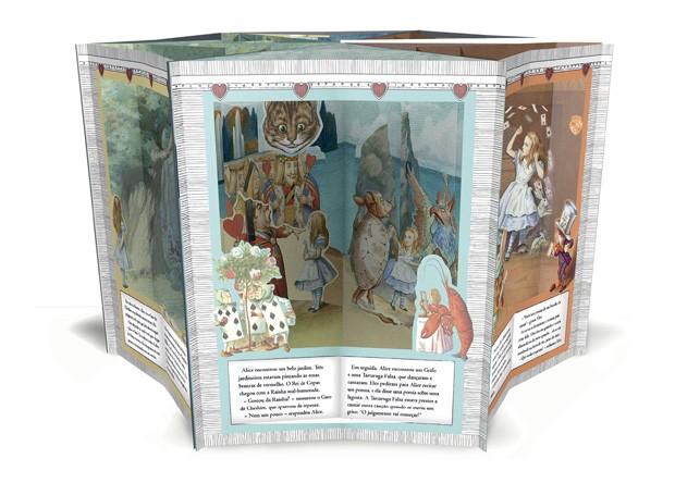 Alice no País das Maravilhas – Livro Pop-up, Ciranda Cultural, R$ 71,92. A partir de 2 anos. (Foto: Reprodução)