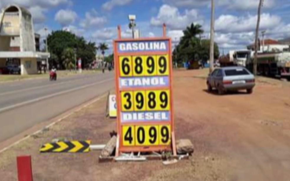 Preço do combustível aumentou em postos de Goiás (Foto: Reprodução/TV Anhanguera)