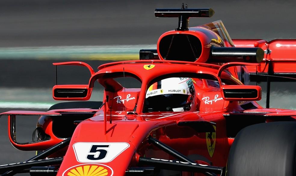 Vettel acelera Ferrari com mudanças no Halo em Barcelona (Foto: Getty Images)