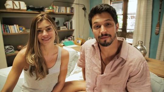 Grazi Massafera e Romulo Estrela falam sobre cena de amor de Paloma e Marcos em 'Bom Sucesso'