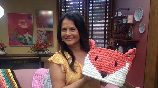 Crochê gigante com fio de malha: aprenda como fazer