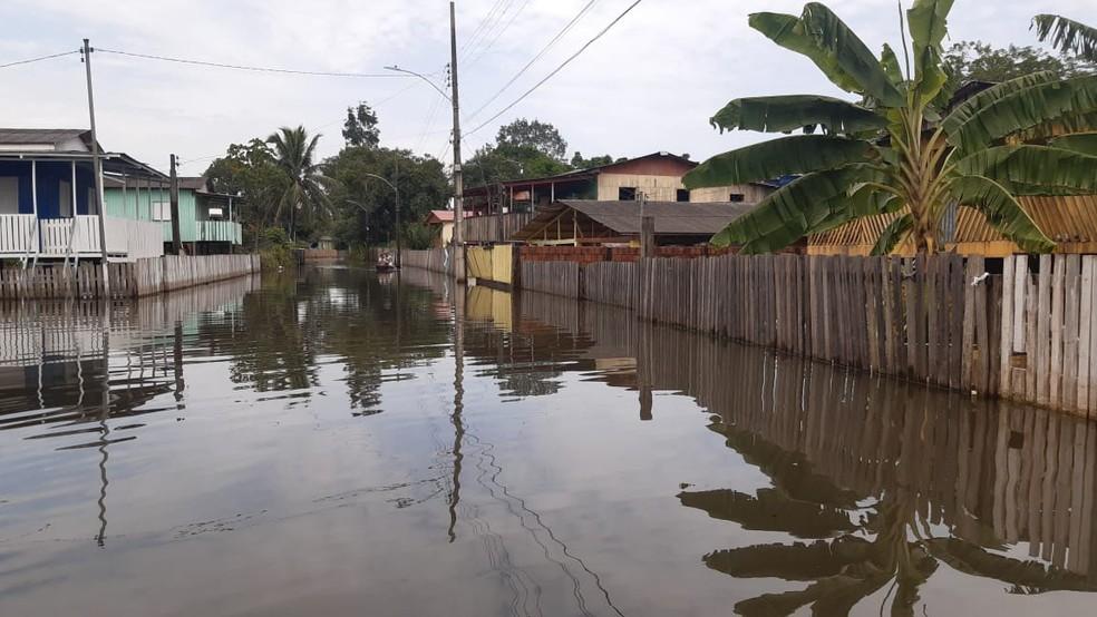Rio Branco, tem 25 mil pessoas atingidas direta e indiretamente pelas águas em 22 bairros — Foto: Kelton Pinho/Rede Amazônica