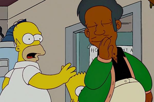 O personagem Apu em uma cena da série Os Simpsons (Foto: Reprodução)