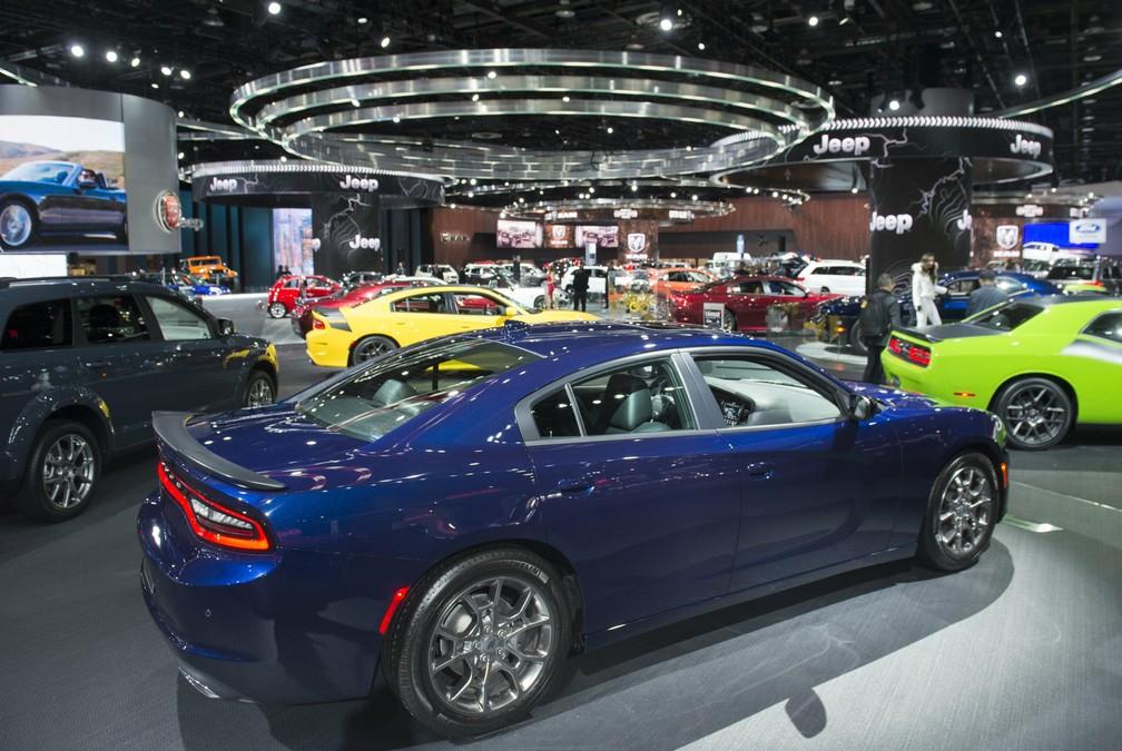 Salão de Detroit é voltado para o mercado americano (Foto: Saul Loeb / AFP)