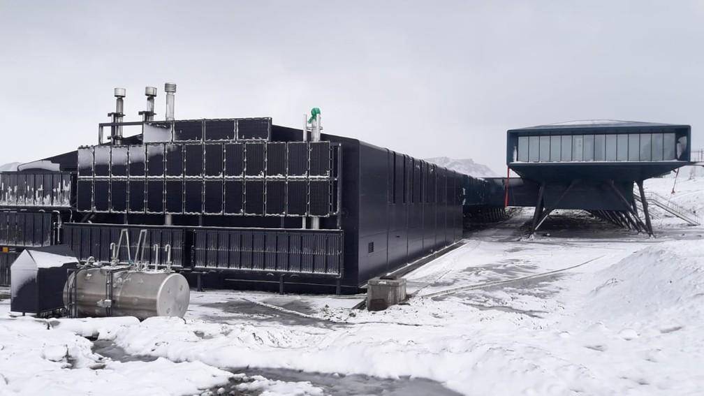 A Estação Antártica Comandante Ferraz recebeu um investimento de US$ 99,6 milhões (cerca de R$ 400 milhões) — Foto: Divulgação Marinha do Brasil