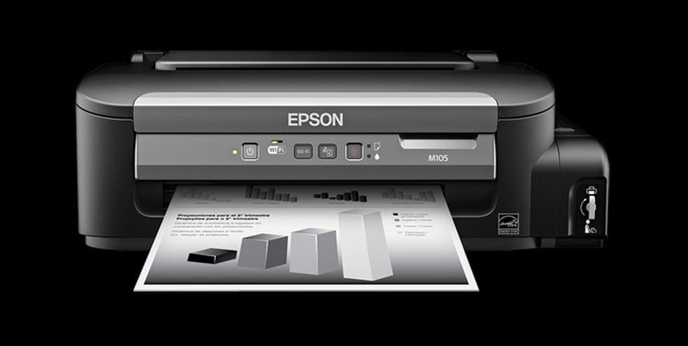 Epson WorkForce M105 possui bom custo-benefício — Foto: Divulgação/Epson