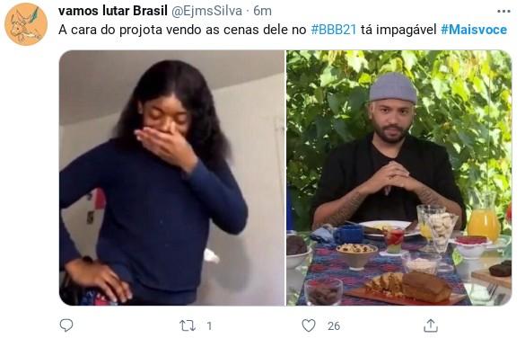 Internautas fazem piada com entrevista de Projota ao 'Mais você' (Foto: Reprodução)