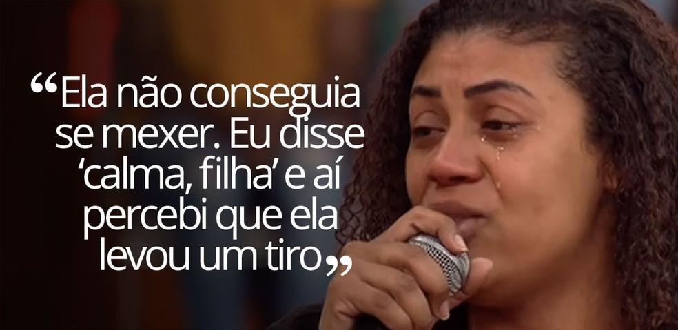 Mãe de Ágatha — Foto: Reprodução/TV Globo