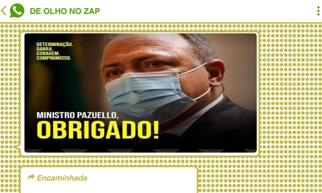 Gestão de Pazuello foi elogiada por bolsonaristas em chats no WhatsApp e no Telegram
