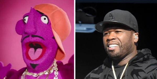 O personagem representando 50 Cent no clipe de Nicki Minaj (Foto: Reprodução/Getty Images)