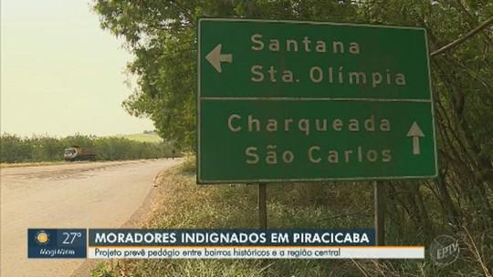 Moradores questionam instalação de pedágio em ponto de circulação de rodovia dentro de Piracicaba