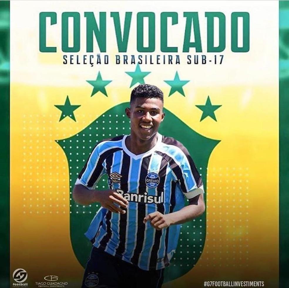 Luis Eduardo, lateral-esquerdo do Grêmio  — Foto: Divulgação