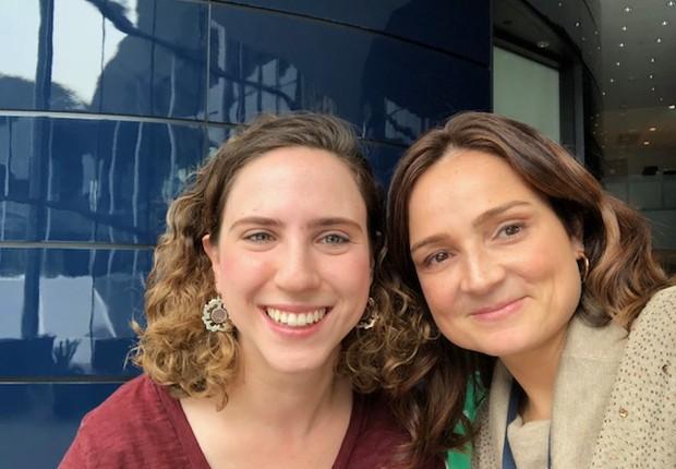 Andrea Rozenberg e Fernanda Thees (Foto: ARQUIVO PESSOAL/FERNANDA LOPES DE MACEDO THEES)