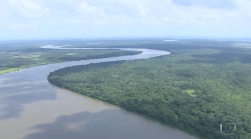 Imagem aérea mostra a área da extinta Renca (Foto: Reprodução/Rede Amazônica)