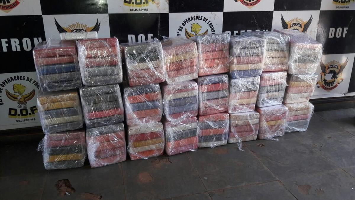 Traficante do MT é preso em MS com 261,9 quilos de cocaína