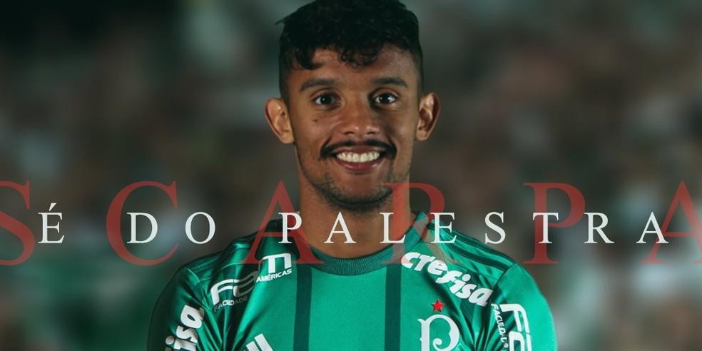 Palmeiras anuncia Gustavo Scarpa (Foto: Reprodução/Twitter)
