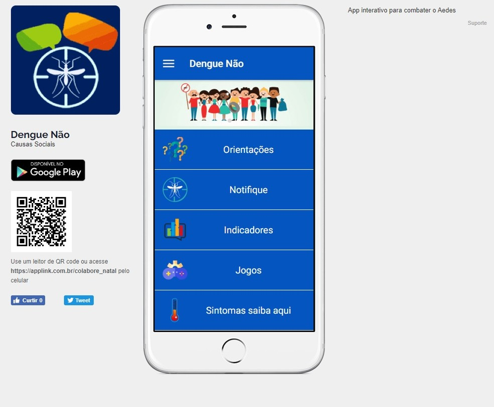 Resultado de imagem para app dengue natal