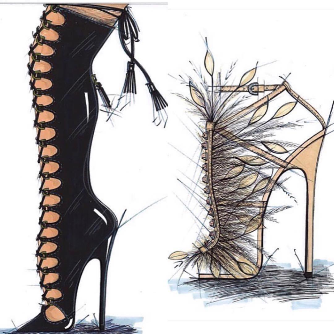 Brian Atwood mostrou um preview dos sapatos que vamos ver na passarela da VS este ano (Foto: Reprodução/Instagram)