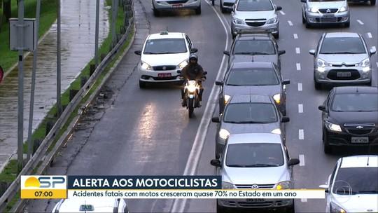 Acidentes com vítimas fatais em motocicletas cresce quase 70% em São Paulo em um ano
