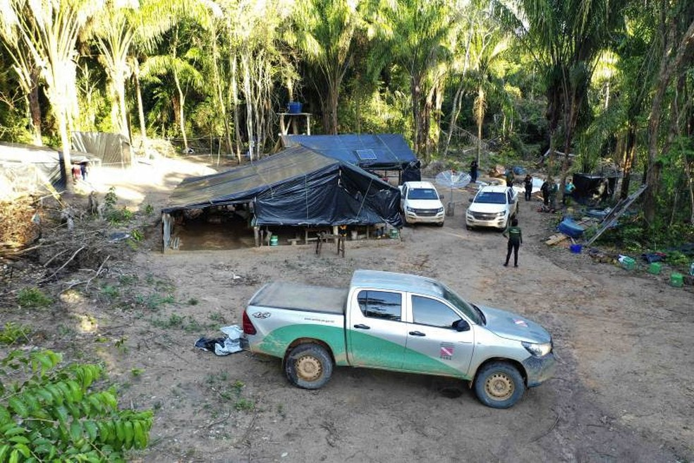 Operação interdita garimpo em Novo Progresso — Foto: Semas/Divulgação