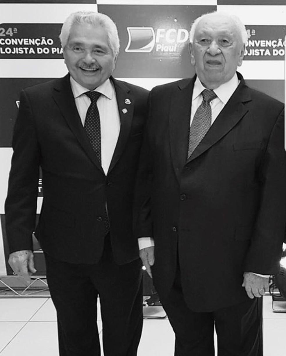 Senador Elmano Férrer com o empresário João Claudino — Foto: Divulgação /Elmano Férrer