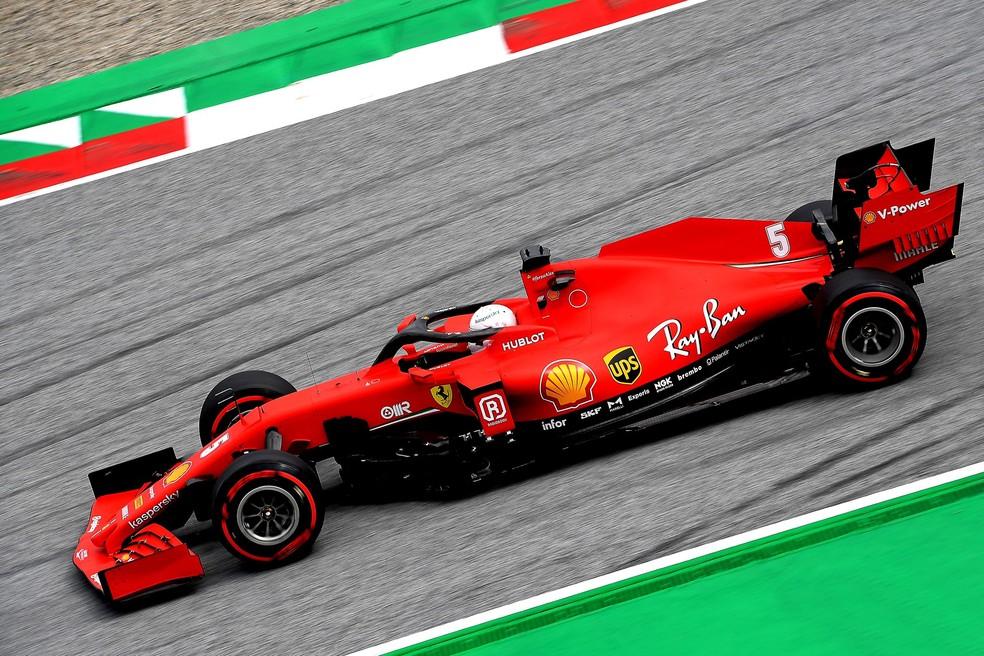 Sebastian Vettel ficou apenas em 11º no grid para o GP da Áustria — Foto: Divulgação