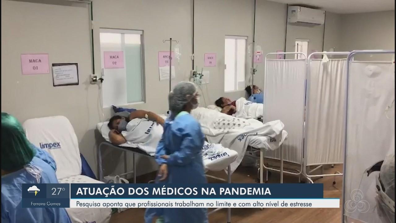 Pesquisa aponta que médicos trabalham no limite e com alto nível de estresse na pandemia