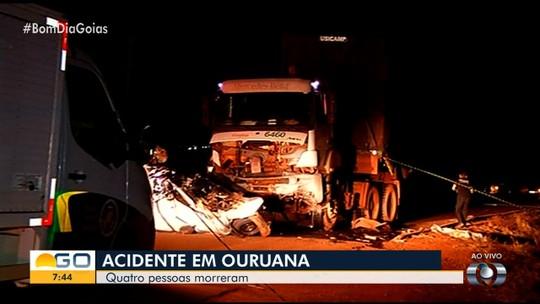Casal e duas amigas morrem em acidente na GO-501 no distrito de Ouroana, em Rio Verde