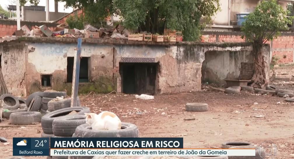 Terreiro da Gomeia ser preservado anuncia Prefeitura de Caxias  Foto Reproduo TV Globo
