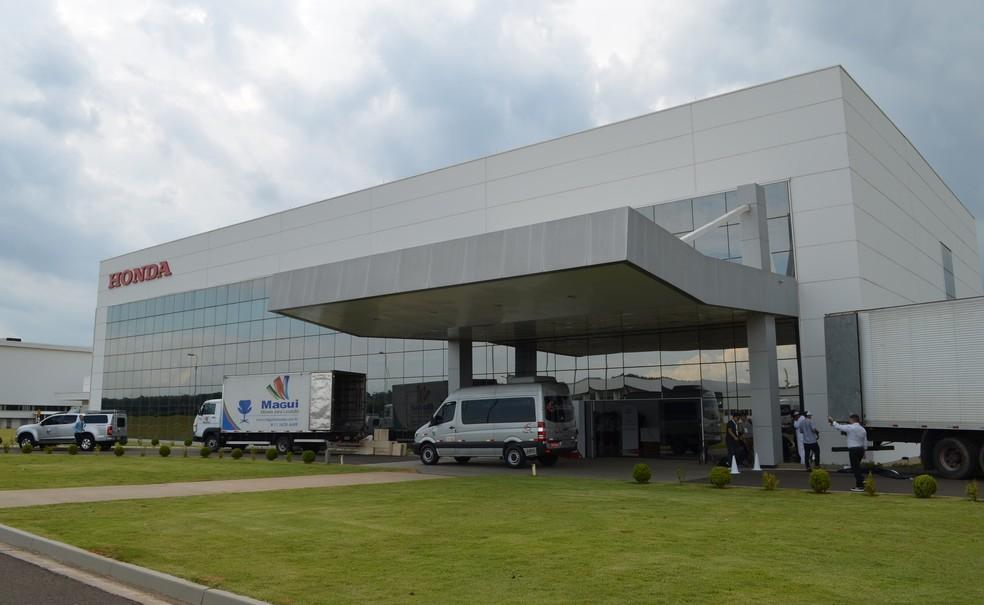 Fábrica da Honda Itirapina (SP) — Foto: Gabrielle Chagas/G1
