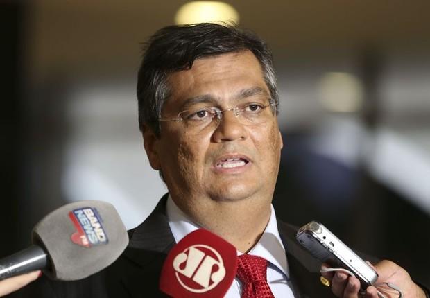 Flavio Dino, governador do Maranhão, fala à imprensa na Câmara dos Deputados (Foto: Valter Campanato/Agência Brasil)
