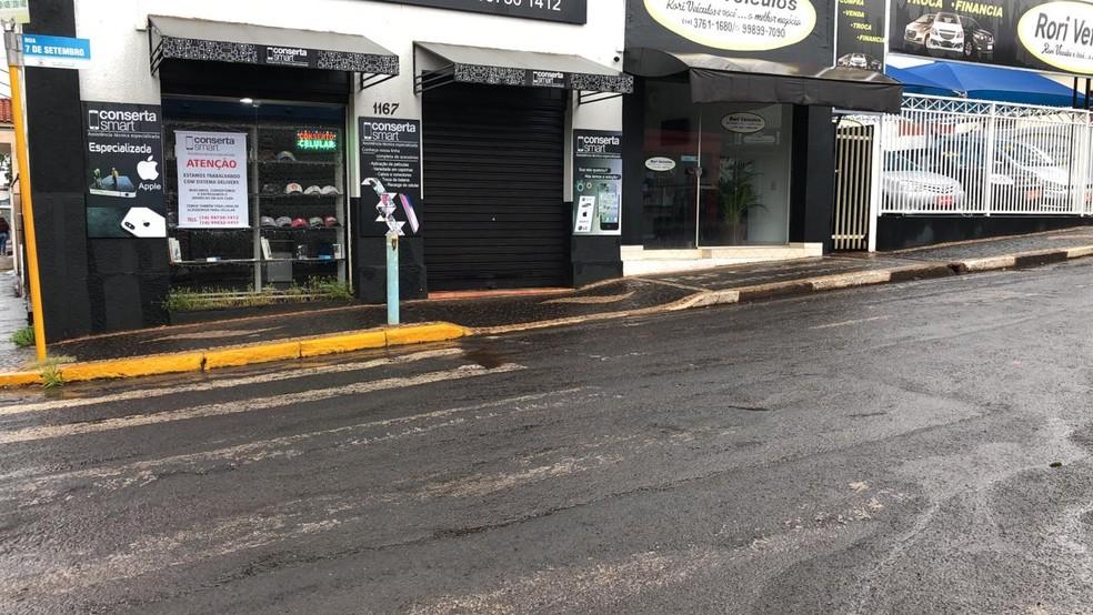 Prefeitura de Itaí anuncia medidas mais restritivas até 13 de junho — Foto: Pedro Zacchi/TV TEM