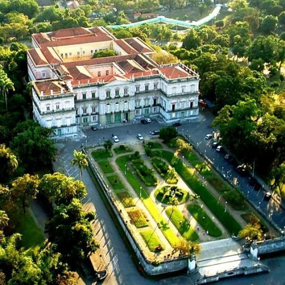 Foto do palácio localizado na Quinta da Boa Vista antes do incêndio que destruiu o Museu Nacional (Foto: Divulgação/Museu Nacional)