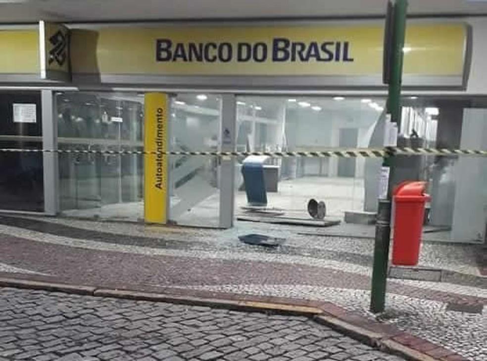 Agência do Banco do Brasil fica na Rua do Comércio — Foto: Reprodução/Redes sociais