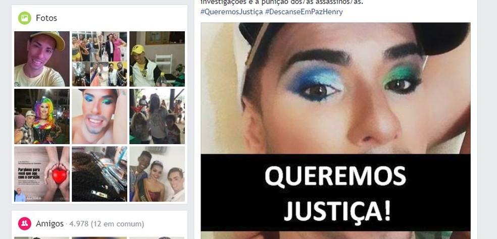 Amigos fizeram várias postagens nas redes sociais após corpo de cabeleireiro ser encontrado em Rio Claro (Foto: Reprodução/ Facebook)