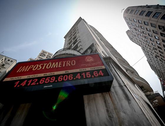 Impostômetro  (Foto: Dario Oliveira/Codigo19/Agência O Globo)