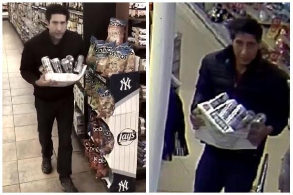 David Schwimmer reproduz vídeo de câmera de segurança que flagrou sósia em roubo (Foto: reprodução)