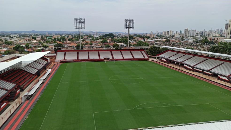 Atlético-GO voltará ao estádio Antônio Accioly — Foto: Paulo Marcos / Atlético-GO