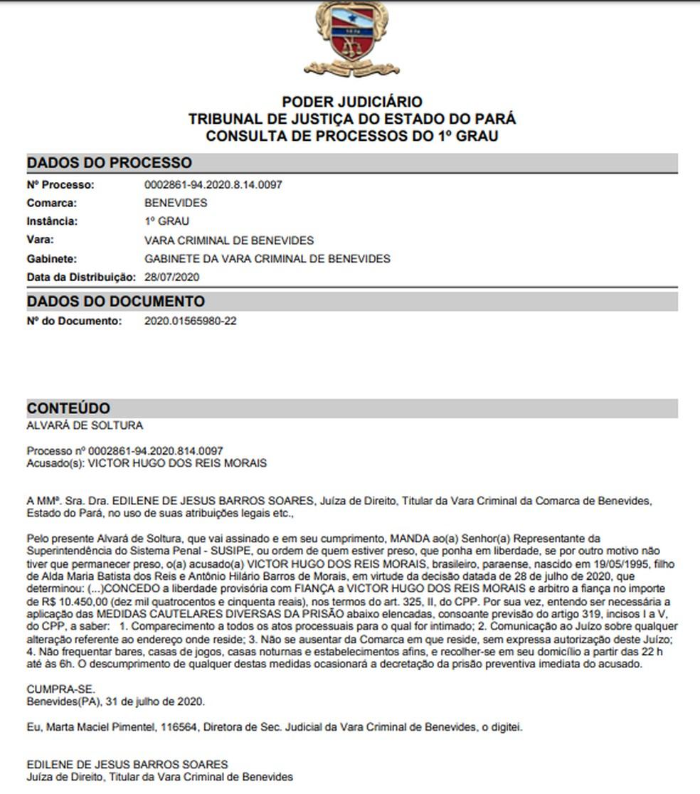 Decisão concede liberdade a acusado de provocar acidente que matou Cleide Moraes — Foto: Reprodução/TJPA