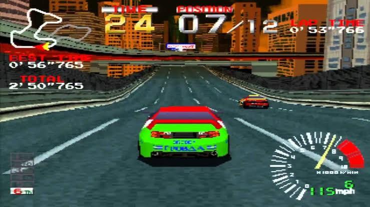 Tela de Ridge Racer, do PlayStation 1  (Foto: Divulgação)