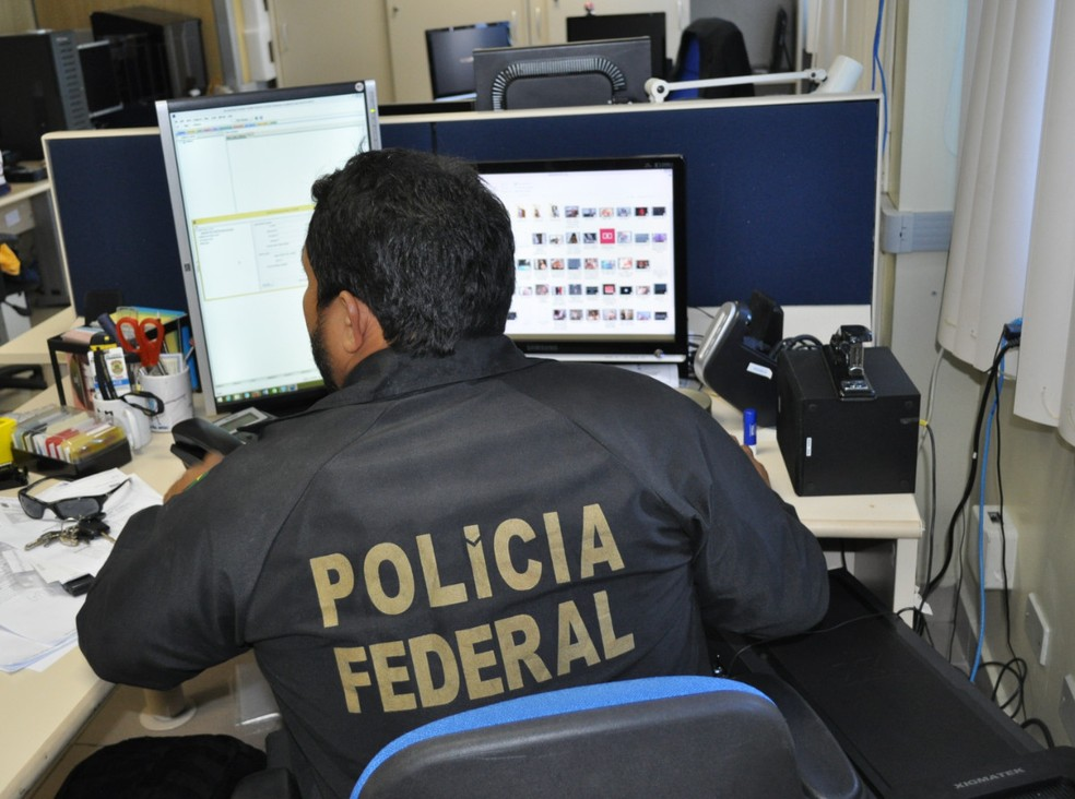 Polícia Federal apreendeu mídias com potencial de armazenamento de conteúdo pornográfico durante operações em Pernambuco, nesta quinta-feira (21) — Foto: Polícia Federal/Divulgação
