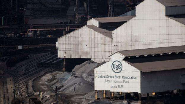 Em 1901, a US Steel foi a primeira empresa a atingir o valor de US$ 1 bilhão do mundo; atualmente, ocupa a posição 1429 entre as 2000 empresas americanas mais valiosas (Foto: Getty Images via BBC News Brasil)