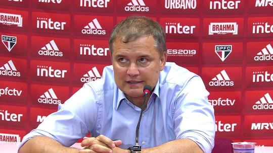 """Aguirre admite mau momento do São Paulo e diz: """"Deixamos passar um jogo muito importante"""""""