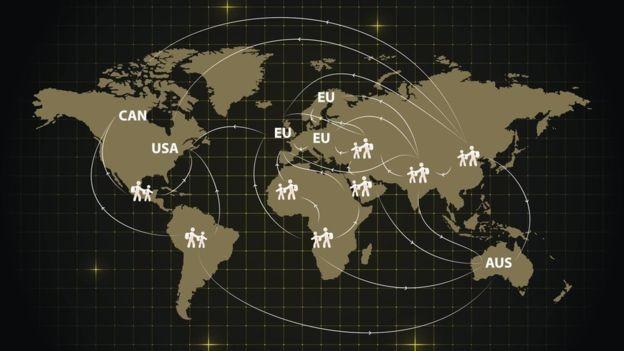 O mundo tem 68,5 milhões de pessoas deslocadas por motivos forçados, sendo que 24,5 milhões são refugiados (Foto: GETTY IMAGES via BBC)