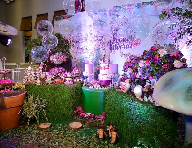 Detalhes da decoração do aniversário de Sophia Valverde (Foto: Manuela Scarpa/Brazil News)